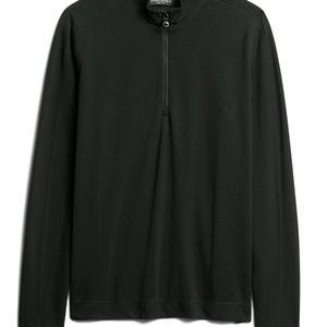 Banana Republic Core Temp Half Zip Mesh T-Shirt